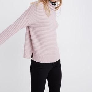 Madewell Belmont Mockneck Sweater in Wisteria Dove